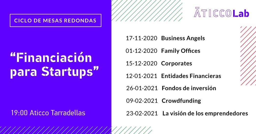 """Ciclo de mesas redondas:  """"Financiación para startups"""""""